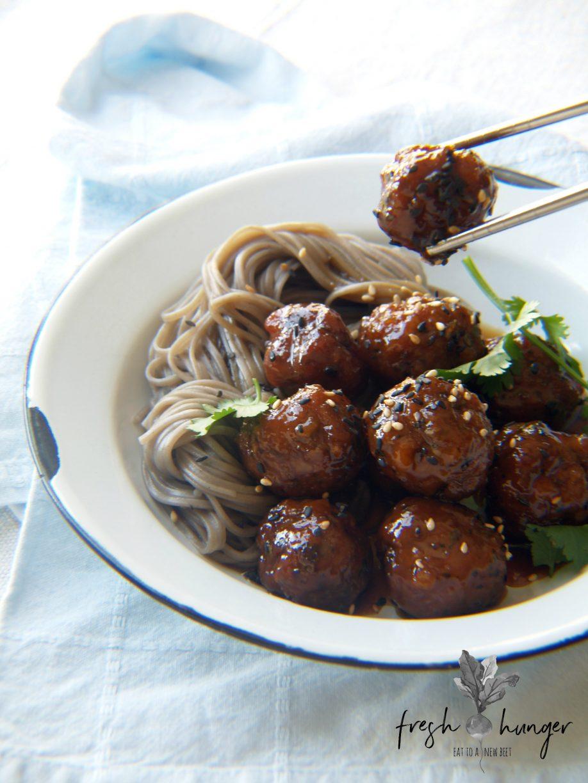 sticky-honey-soy-pork-meatballs