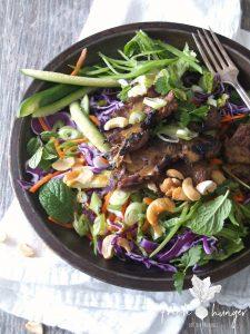 wasabi ginger steak salad