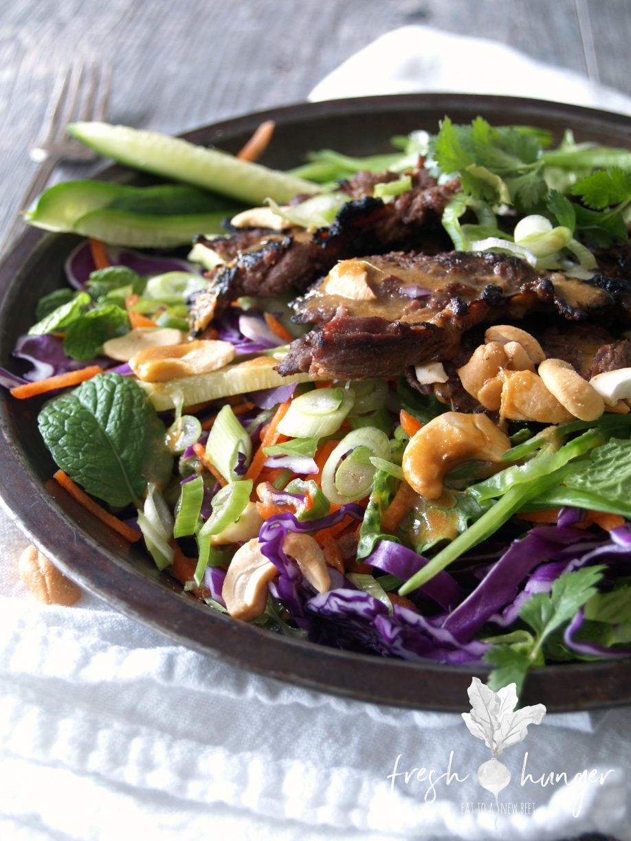 wasabi ginger steak salad