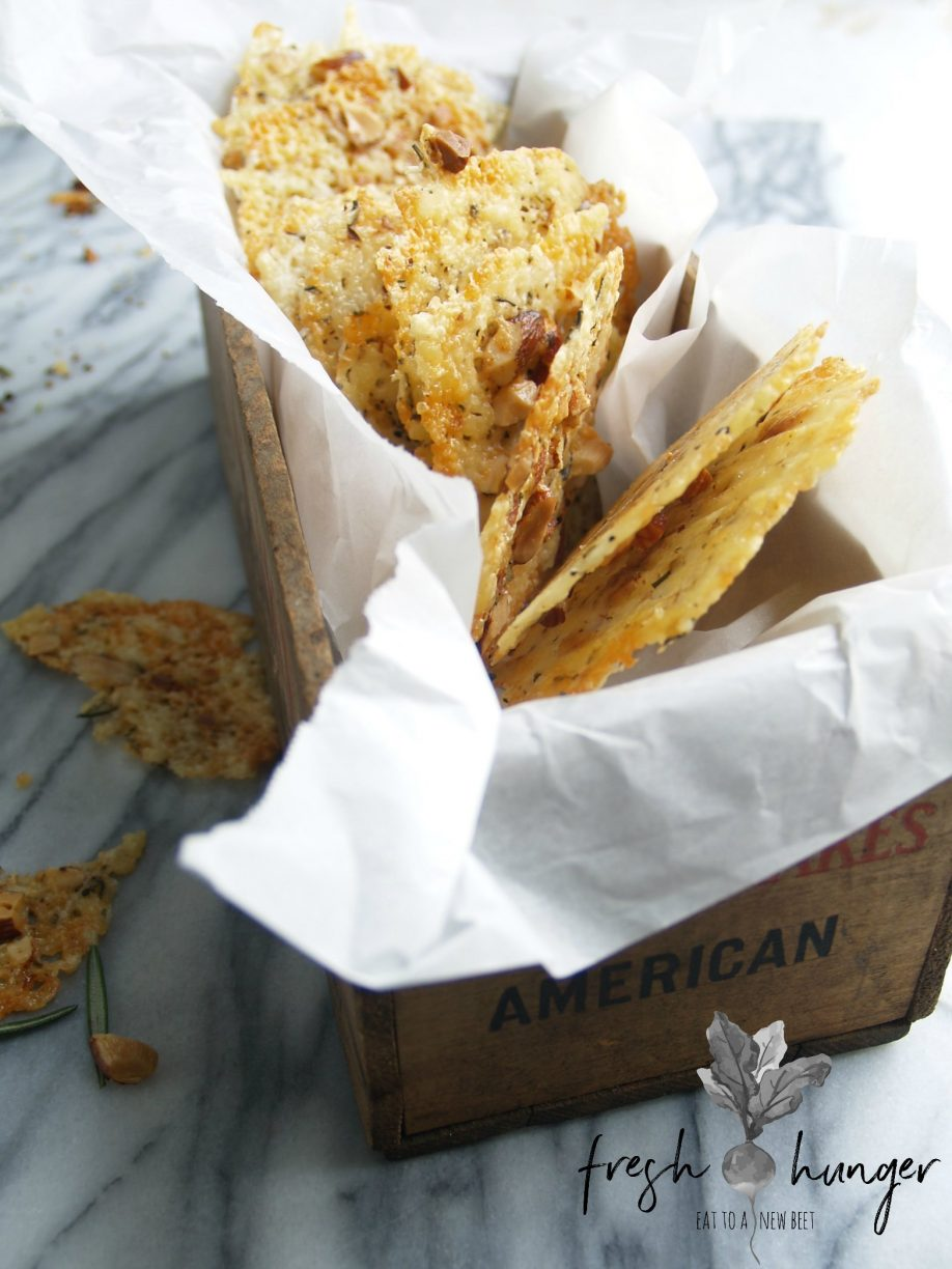3 cheese smoked almond rosemary crackers