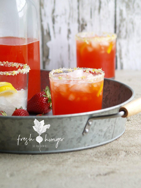 strawberry limoncello margaritas