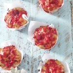 lemon sour cream raspberry glazed muffins
