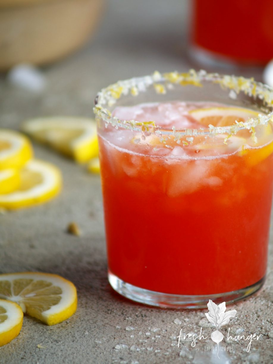 strawberry limoncello margaritas