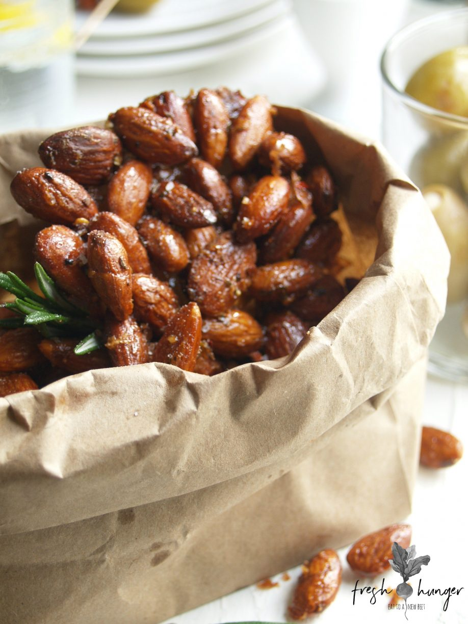 brown butter maple almonds