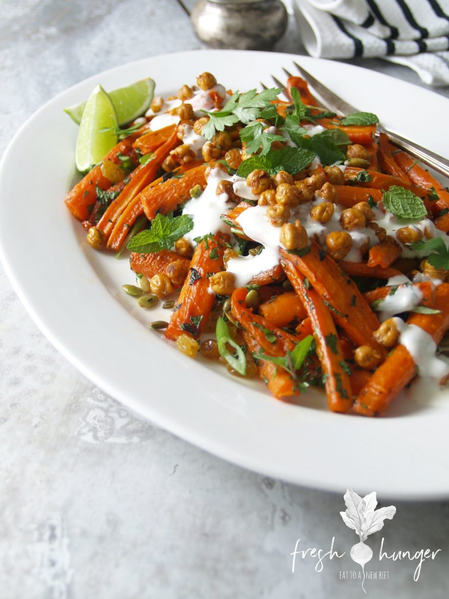 roasted carrot & chickpea salad