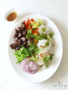 vietnamese sticky pork & noodle salad