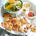 spicy sambal shrimp with mango salad