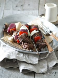 philly cheesesteak skewers