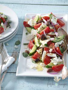 really good greek salad with sheep feta