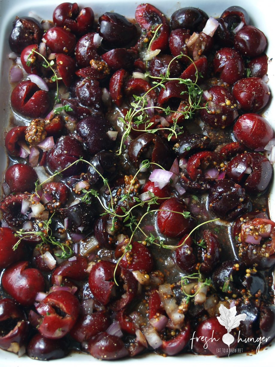 roasted balsamic cherry chutney