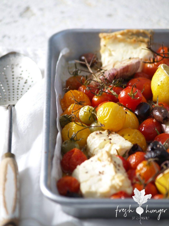 roasted feta & tomatoes
