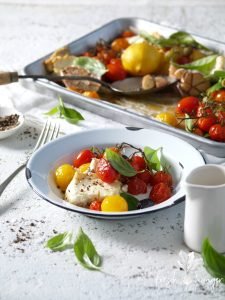 roasted feta & tomatoes