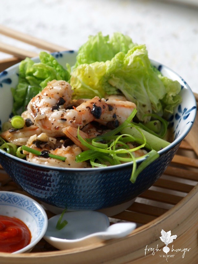Cantonese black bean shrimp
