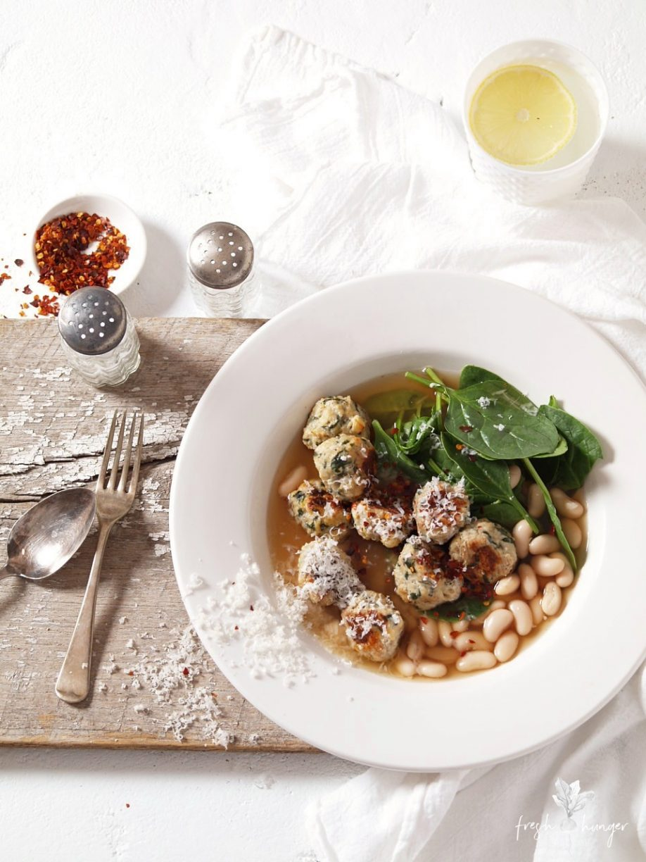 chicken, spinach & feta meatballs four ways