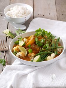 roasted pumpkin & cauliflower Thai red curry