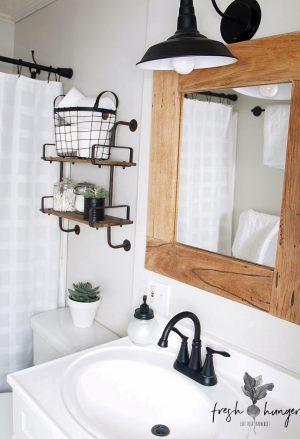 bathroom reno before & after