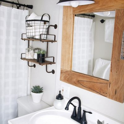 Bathroom reno before & after