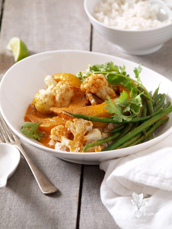 roasted pumpkin & cauliflower Thai red curry