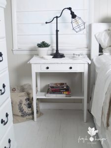 Nightstand before & after