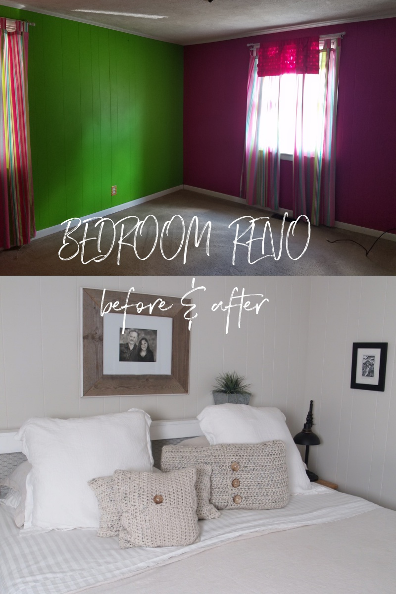 bedroom reno before & after