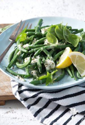 green beans & lemon feta butter