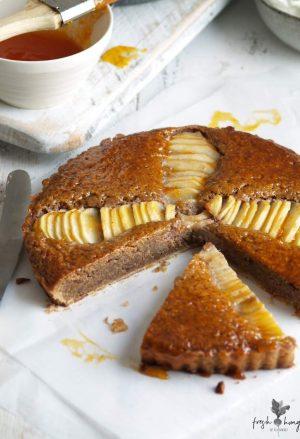 pear & walnut tart