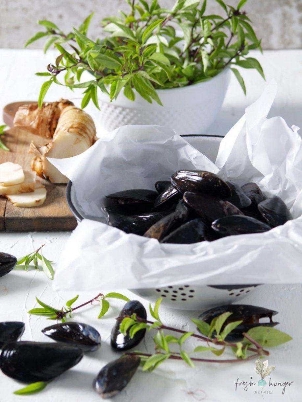 thai basil mussels & shrimp stir-fry