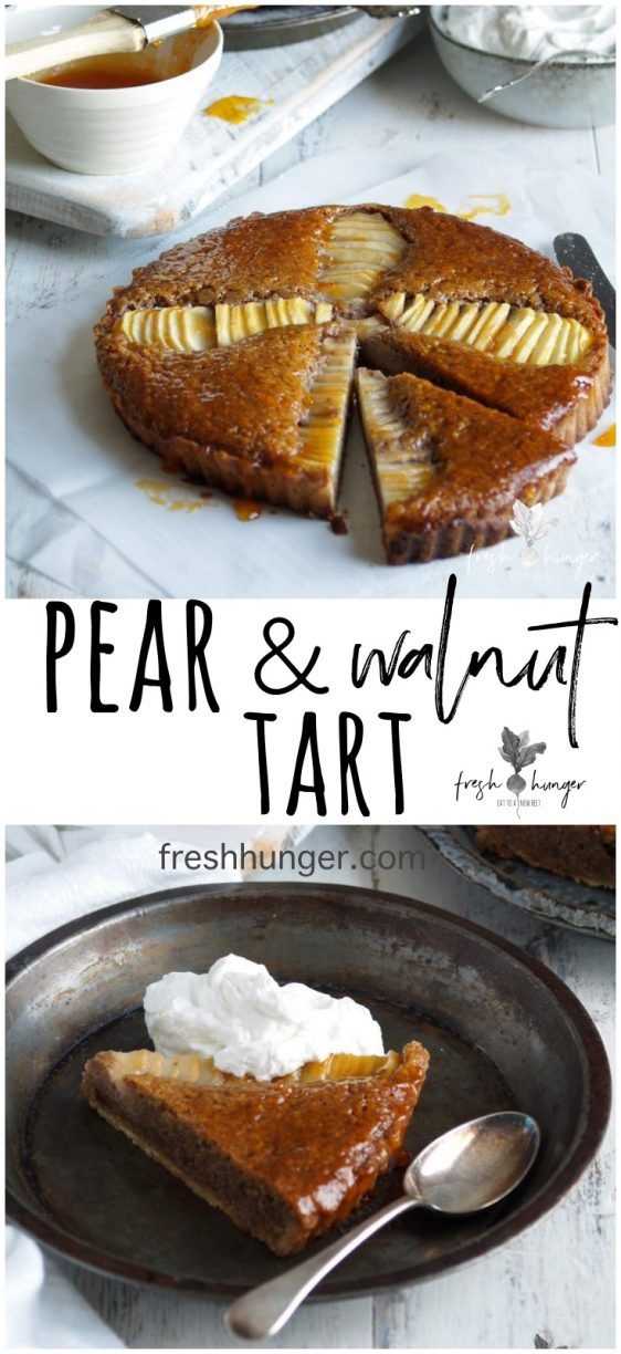 pear & walnut tart