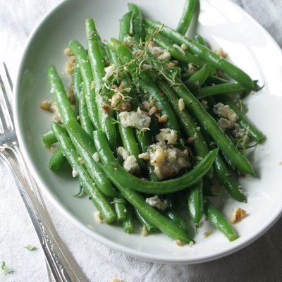 blue cheese, walnut & thyme butter green beans