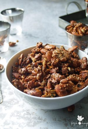crunchy festive spiced nuts
