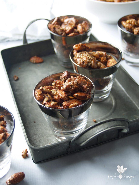 festive crunchy spiced nuts