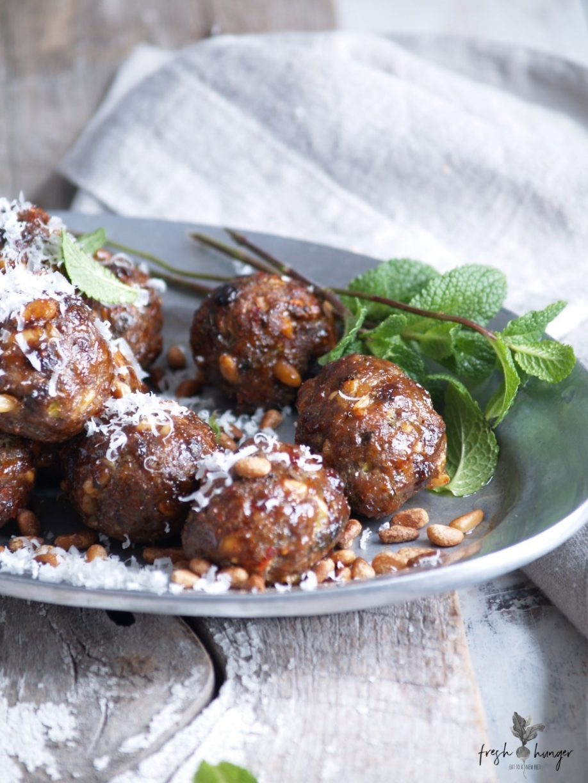 beef, pine nut & raisin meatballs