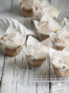 cranberry, white chocolate & coconut muffins