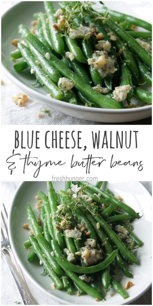 blue cheese, walnut & thyme butter green beans