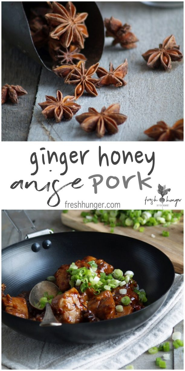 ginger honey anise pork stir-fry