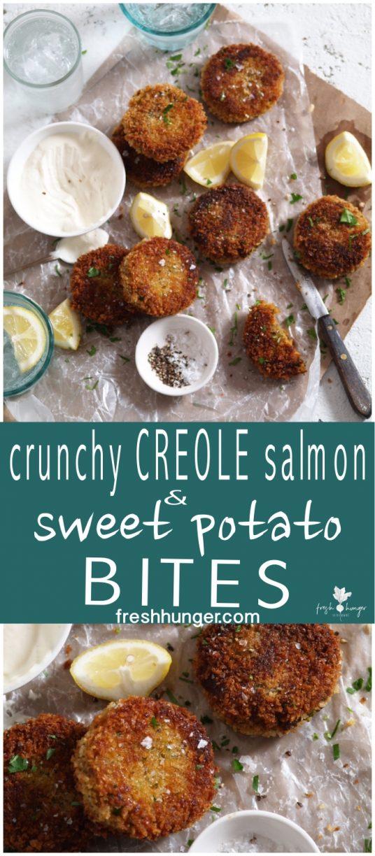 Crunchy Creole Salmon Sweet Potato Bites