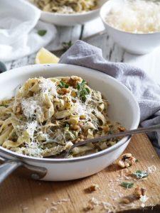 Walnut Oregano Pesto & Homemade Fettuccine