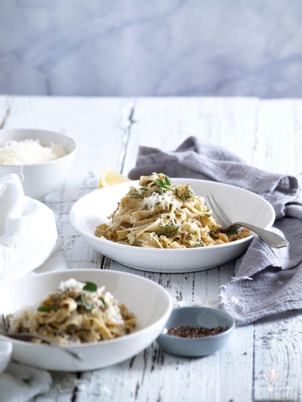 walnut oregano pesto & homemade pasta