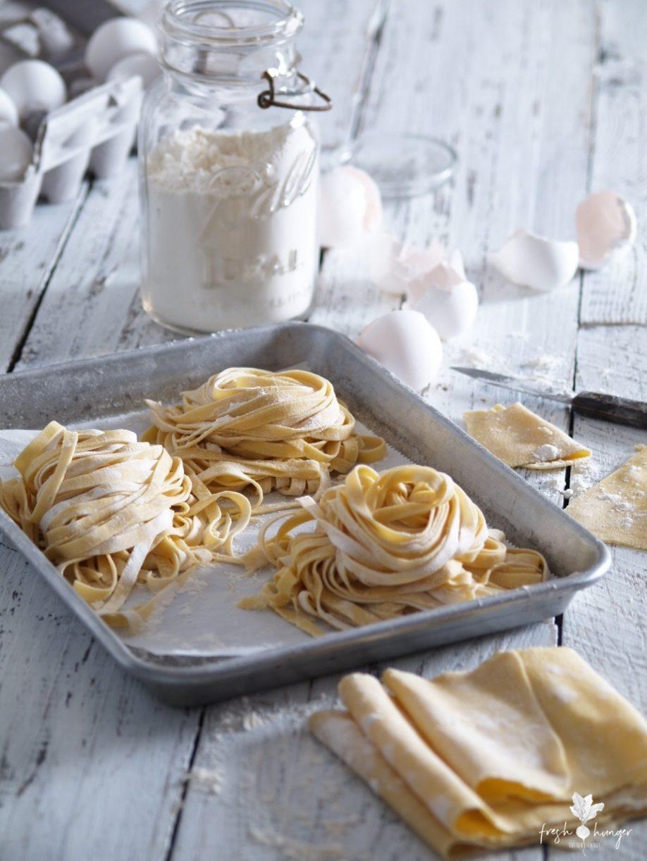 Walnut & Oregano Pesto with Homemade Fettuccine