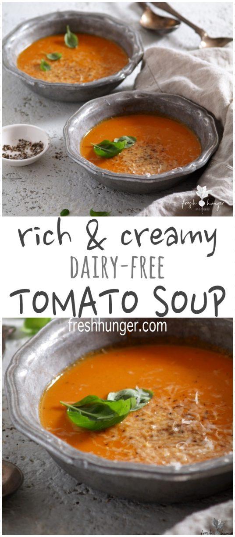 Rich & Creamy Dairy-Free Tomato Soup