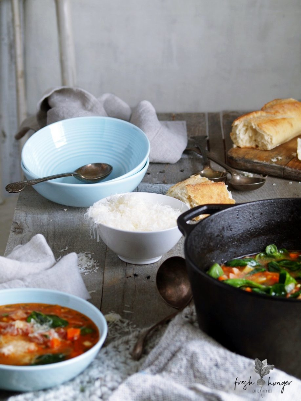 hearty ham, bean & veggie soup