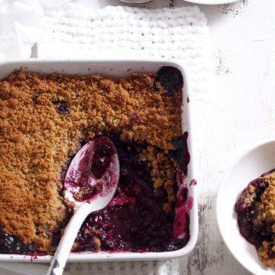 Lemony Blueberry Brown Sugar Crumble