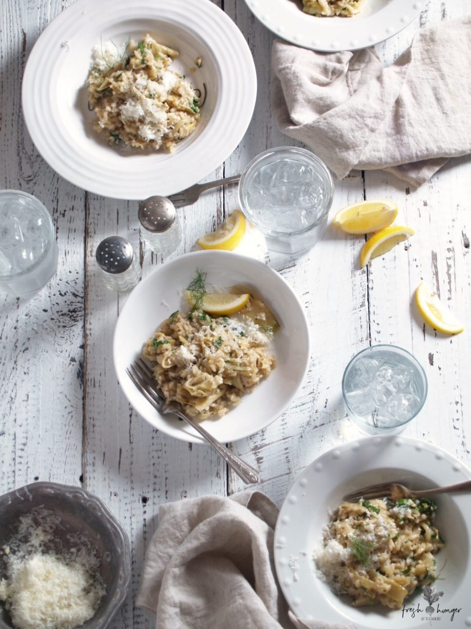 FENNEL, ARTICHOKE & LEMON RISOTTO