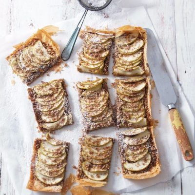 Apple, Ginger & Pecan Phyllo Tart