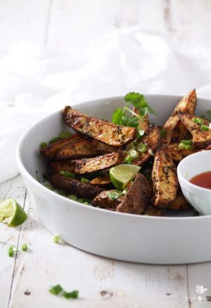 Crunchy Indian Spiced Potato Wedges