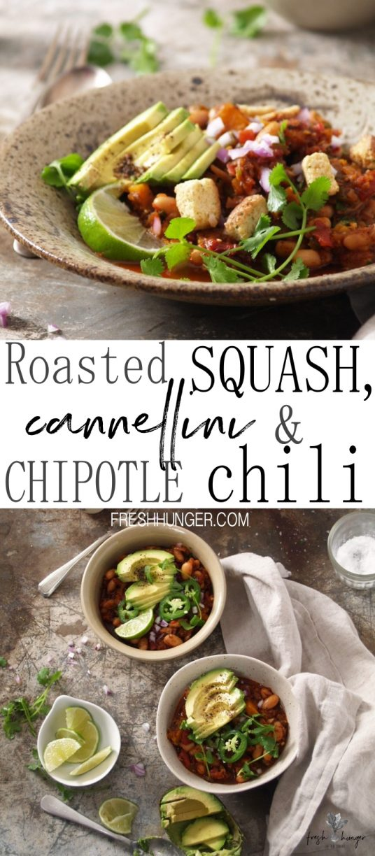 Roasted squash, cannellini & chipotle chili