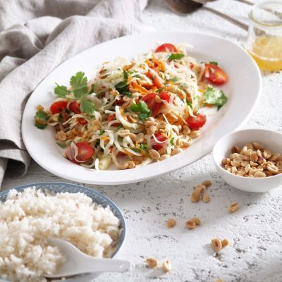 green papaya salad & coconut rice