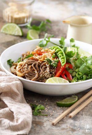 Sesame Ginger Noodle Salad with Cashews