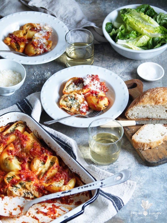 Spinach & Ricotta Stuffed Pasta Shells