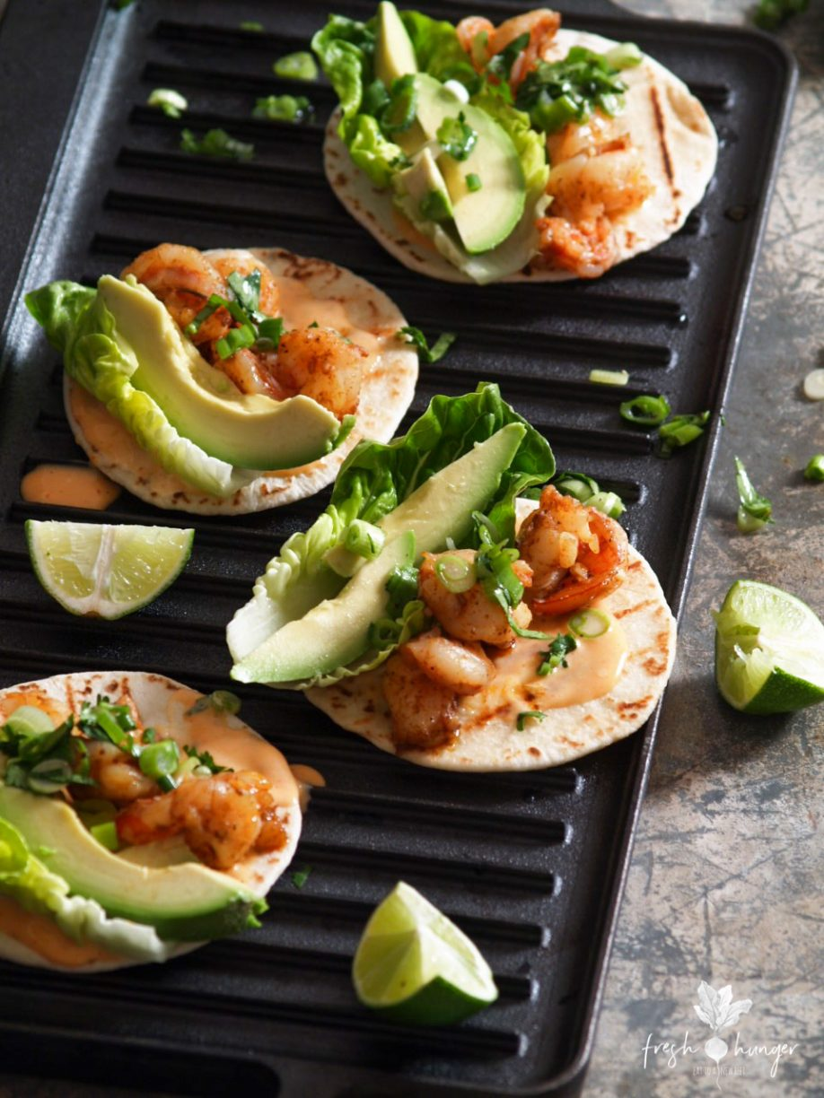 Spicy Creole Shrimp Street Tacos